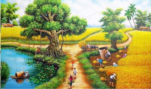 Bức tranh ngày mùa bội thu