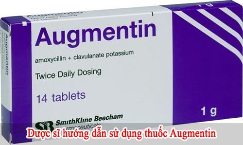 Hướng dẫn sử dụng thuốc Augmentin 1g