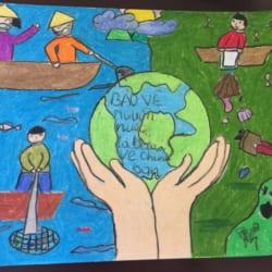 Giới thiệu những bức tranh vẽ về bảo vệ môi trường độc đáo