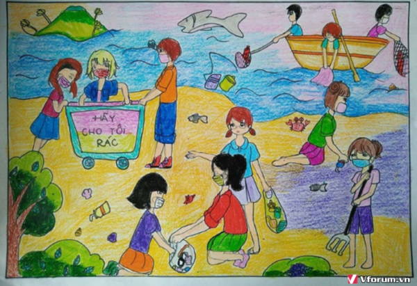 tranh vẽ về bảo vệ môi trường