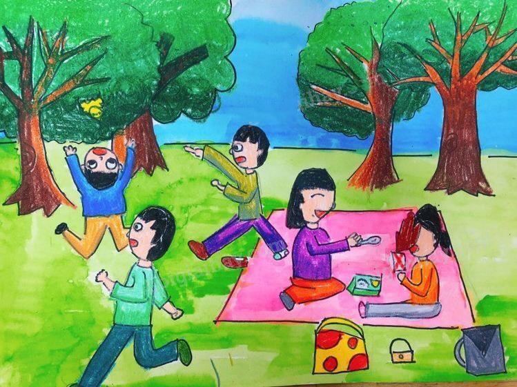 Gia đình cùng vui chơi ở công viên