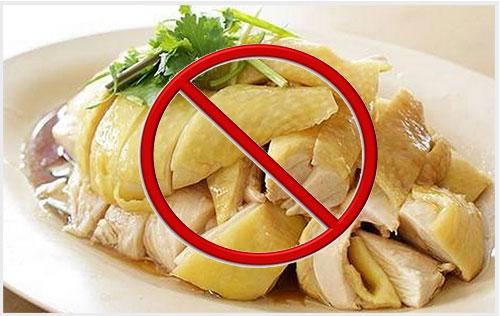 Không nên ăn thịt gà khi bị quai bị