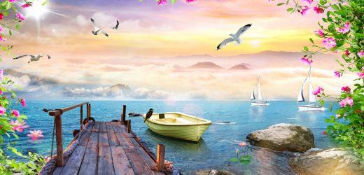 Hướng dẫn cách vẽ tranh phong cảnh biển đơn giản, thu hút