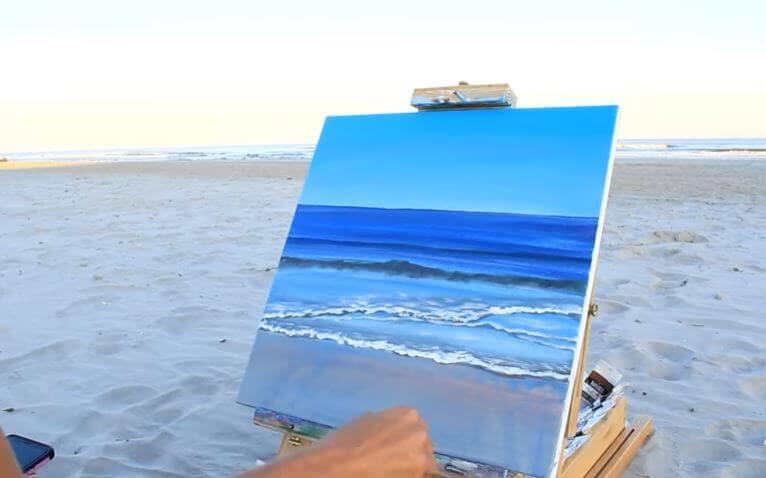 Cách vẽ tranh cảnh biển bằng màu nước
