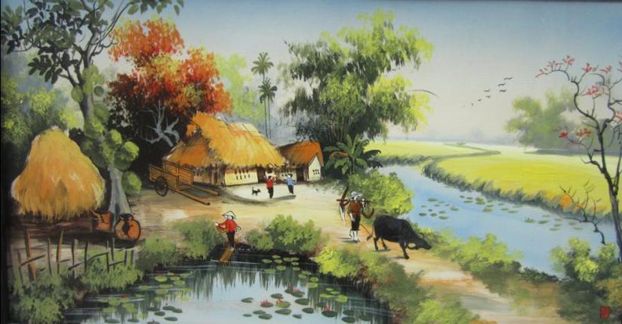 List Vẽ tranh phong cảnh làng quê đẹp và chuẩn nhất